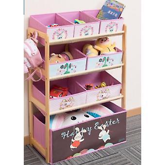 Gabinetes de niños&s Modern Simple Kindergarten Multi-storey Toy Rack Home