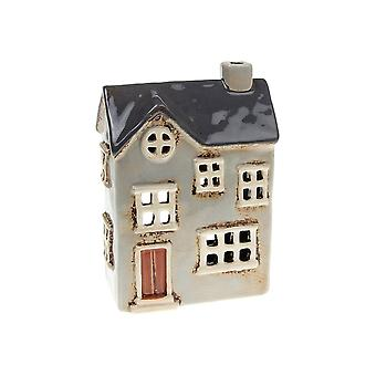 Joe Davies Village Pottery Country House Tealight Holder - Ljusgrå