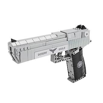 Handgun Pistol Technic Series, Can Fire Bullets, Set Desert Eagle Assembly, Diy