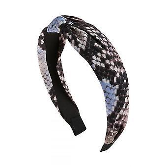 Blue Snake Skin Printed Headband