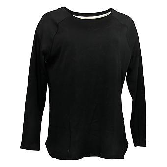 Isaac Mizrahi En direct! Femmes's Top Pima Cotton Black A371894