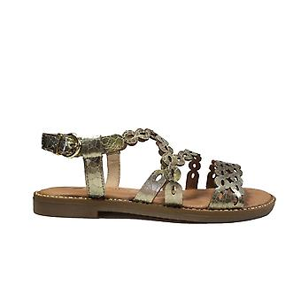 Remonte D3660-90 Gold Leather Womens Sling Back Sandals