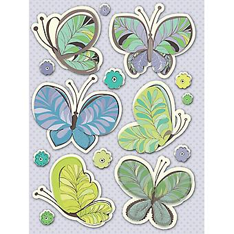 K & Co - Poppyseed Butterfly and Paisley Grand Adhesions