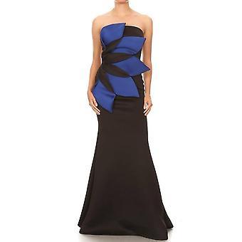 """'girasol"""" Vestido largo de flor azul"""
