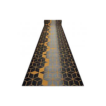 Runner anti-slip 110 cm HEKSAGON Hexagon black / gold
