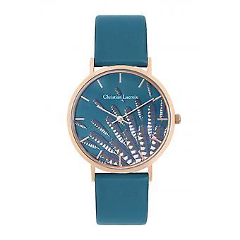 Assista à mulher Christian Lacroix Relógios CLW333 - Couro Turquesa