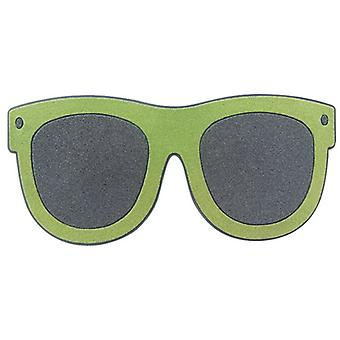 fußmatte Sonnenbrille 75 x 34 cm Gummi/Nylon grün, grau