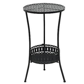 vidaXL Bistro table Black 40x70cm metal