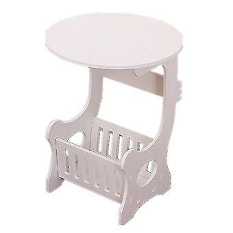 Mini tavolo da tè rotondo in plastica per il tavolo da tè casa portaocitoio