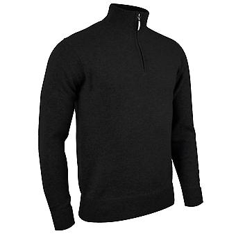 Glenmuir Mens Coll Zip Neck Knitted Lambswool Sweater