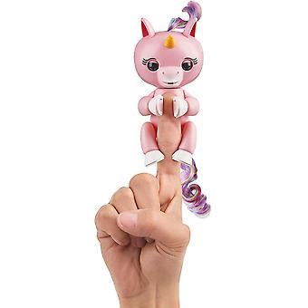 FengChun Fingerlings Einhorn rose mit Regenbogenmhne, interaktives Spielzeug, reagiert auf Gerusche,