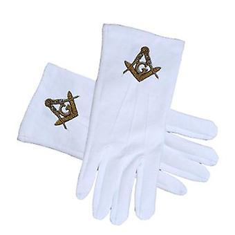 Masonic regalia - standard gold masonic glove