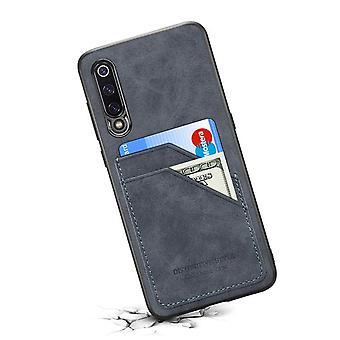 Nahkakotelo lompakkokorttipaikalla Huawei P40: lle tummanharmaa
