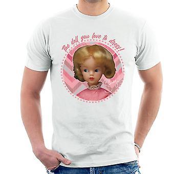 Sindy Pink Dress Men's T-Shirt