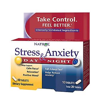 Natrol Stress & Ångest dag & Nite Formler, 10+10 Flikar