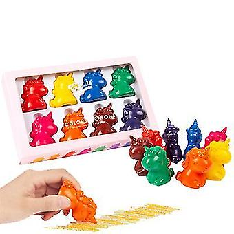 8-צבעים של ילדים עפרון חד קרן דוגמנות סטודנט צבע צבע צבע להגדיר אמנות סטודנט בטוח ולא רעיל az12589