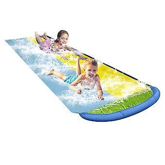 双滑水道池夏季水上乐园后院乐趣