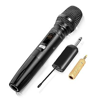 UW-01 UHF bezdrátový mikrofonní systém Kapesní LED Karaoke KTV mikrofon s přijímačem