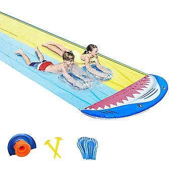 Summer Garden Lawn Waterslide, Outdoor Water Inflatable Surfing Waterway With Crash Pad