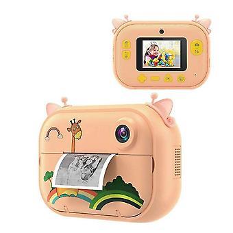 Lasten pikatulostuskamera, hd-digitaalinen videonauhuri, nolla muste lelu, Ips-näyttö