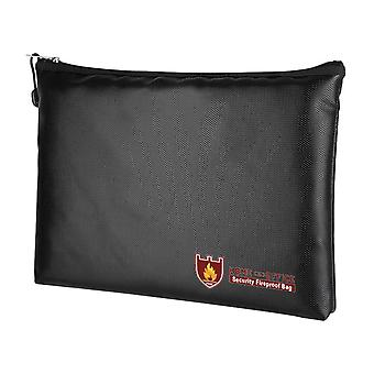 Fireproof Document Bag With Zipper, Silicone Fireproof Storage Bag, Can Store Documents, Money And Cash (black)