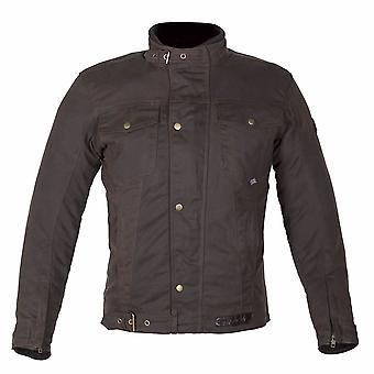 Spada Union Wax Jacket Brown CE Protection Waterproof Breathable