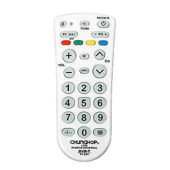 Télécommande universelle pour Chunghop L208 TV DVB-t SAT Pperating 3 dispositifs Contrôleur