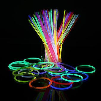 100 Glow Stick armbånd blandet farver Part Favoriserer Supplies