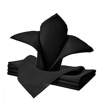 Black Polyester Cloth Napkin