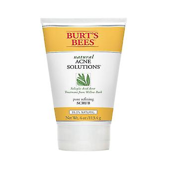 Burt's bees acne solutions exfoliating face wash, oily skin, 4 oz