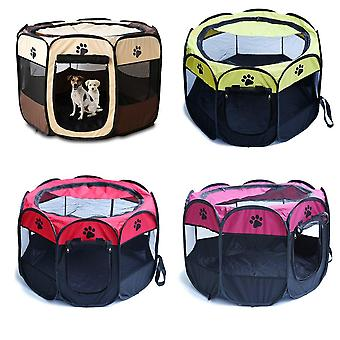 Portable Folding Pet Tent Dog House Cage Cat Tent Playpen Puppy Kennel Easy Operation Fence