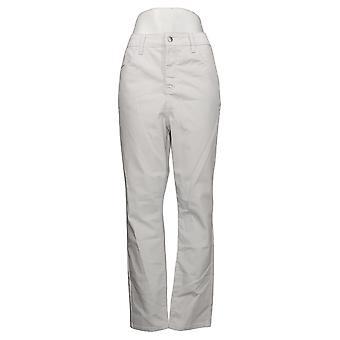 Mujeres con control pantalones de mujer blanco resistente a las manchas blanco A376965