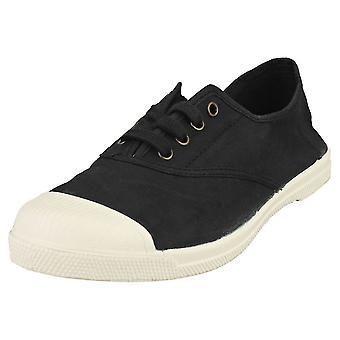 Natural World Lavanda Womens Casual Shoes in Black