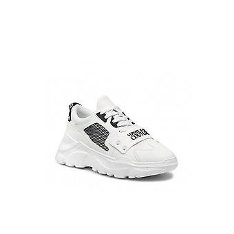 Versace Jeans Couture Leather/mesh White Chunky Speedtrack Trainer