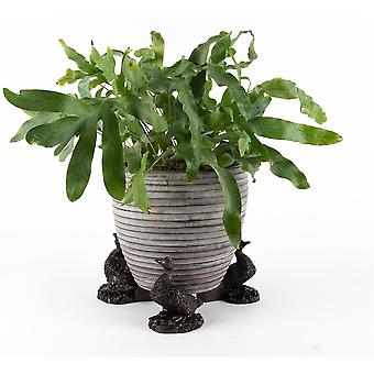 Potty Feet Aylesbury Duck Themed Plant Pot Feet in Antique Bronze Color - 3pc