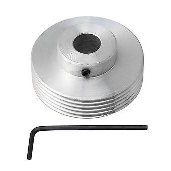 Pulleys, blocks sheaves multi wedge pj v-type belt pulley 6 slots 12mm bore with hexagon wrench