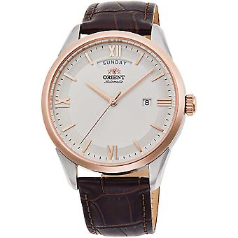 ORIENT Contemporary Wide Calendar RA-AX0006S0HB - Leather Male 3 hands