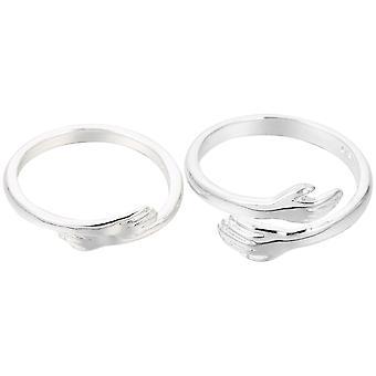 2 stuks chique vinger ringen modieuze zilveren ringen elegante knuffel stijl jewelries