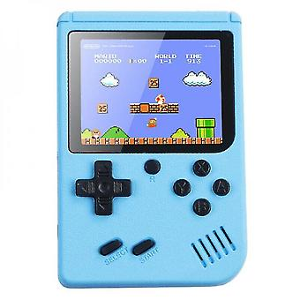 (blue) Handheld Retro Video Game Console Gameboy Built-in 500 Classic Games Kids Gift