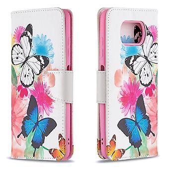 Fall für Xiaomi Poco X3 Nfc Muster zwei Schmetterling