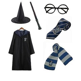 Harry Potter 6pc Set Zauberzauber Zauberer Cosplay Kostüm Cape Mantel Kostüm