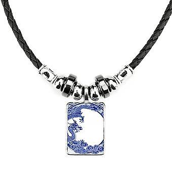Čínska kultúra náhrdelník Modrý drak
