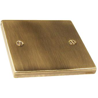 Causeway 1 Gang Blank Plate, Antique Brass