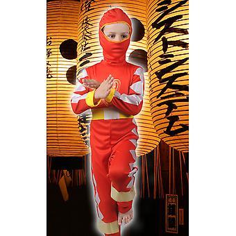 Trajes de los niños niño niños Ninja rojo