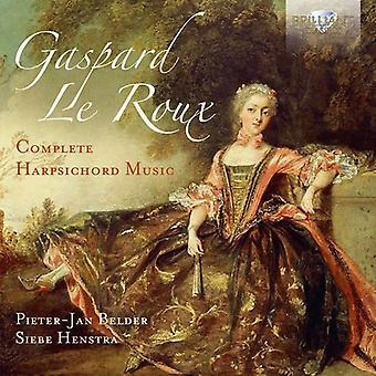 Le Roux, Gaspard / Belder, Pieter-Jan / Henstra, Siebe - Gaspard Le Roux: importación de los E.e.u.u. música de clavecín completo [CD]