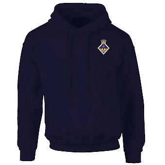 HMS Wildfire Embroidered Logo - Official Royal Navy Hoodie
