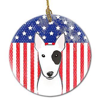 كارولين الكنوز BB2139CO1 الأمريكية العلم وبول الكلب السيراميك زخرفة.
