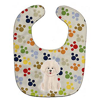 Carolines Treasures  BB5904BIB Pawprints Bichon Frise Baby Bib