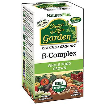 Natures Plus Source Of Life Garden Vitamin B Complex (Organic) 60Vcaps