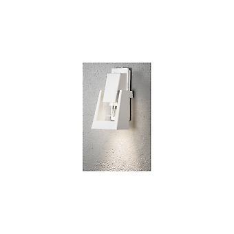 Konstsmide Potenza White Oil Lantern Style Garden Wall Light
